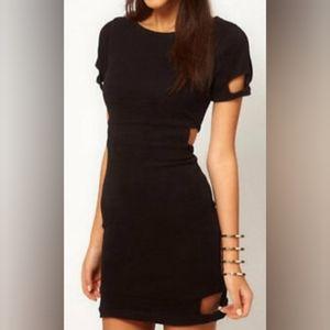 ASOS Cut Out Ribbed Mini Bodycon Dress 6